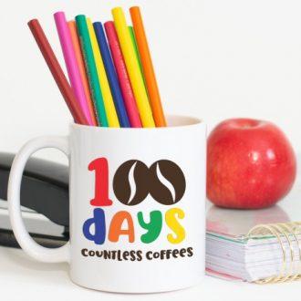 100 DAYS COFFEE MUG FOR TEACHERS