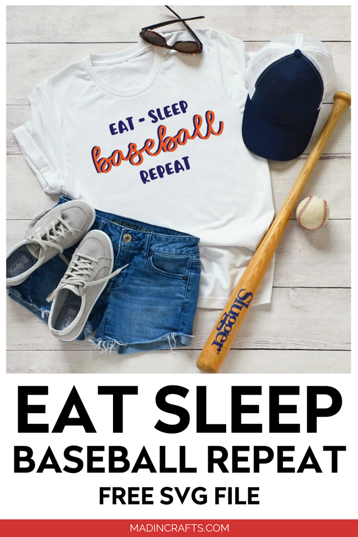 EAT SLEEP BASEBALL REPEAT SHIRT