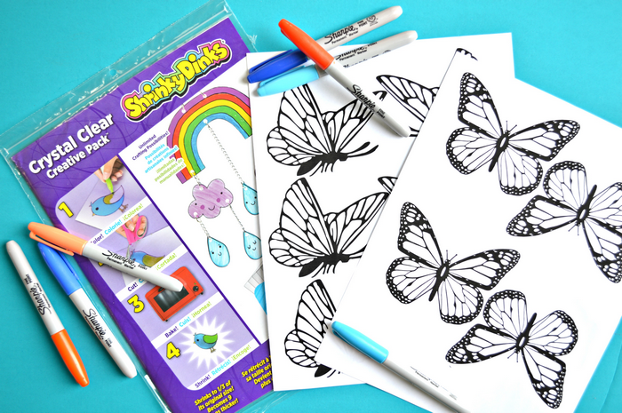 SHRINKY DINK BUTTERFLY MOBILE