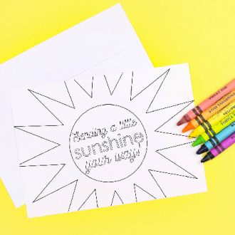 PRINTABLE COLORING PAGE HAPPY MAIL