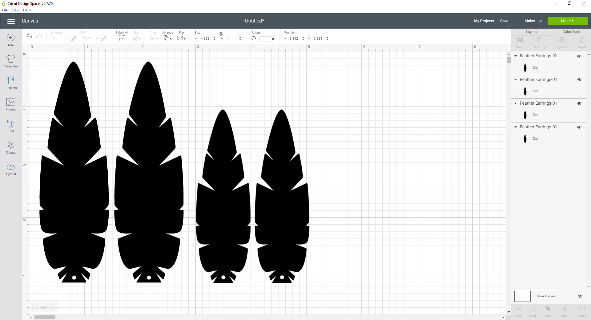DIY FEATHER EARRINGS – FREE SVG FILE