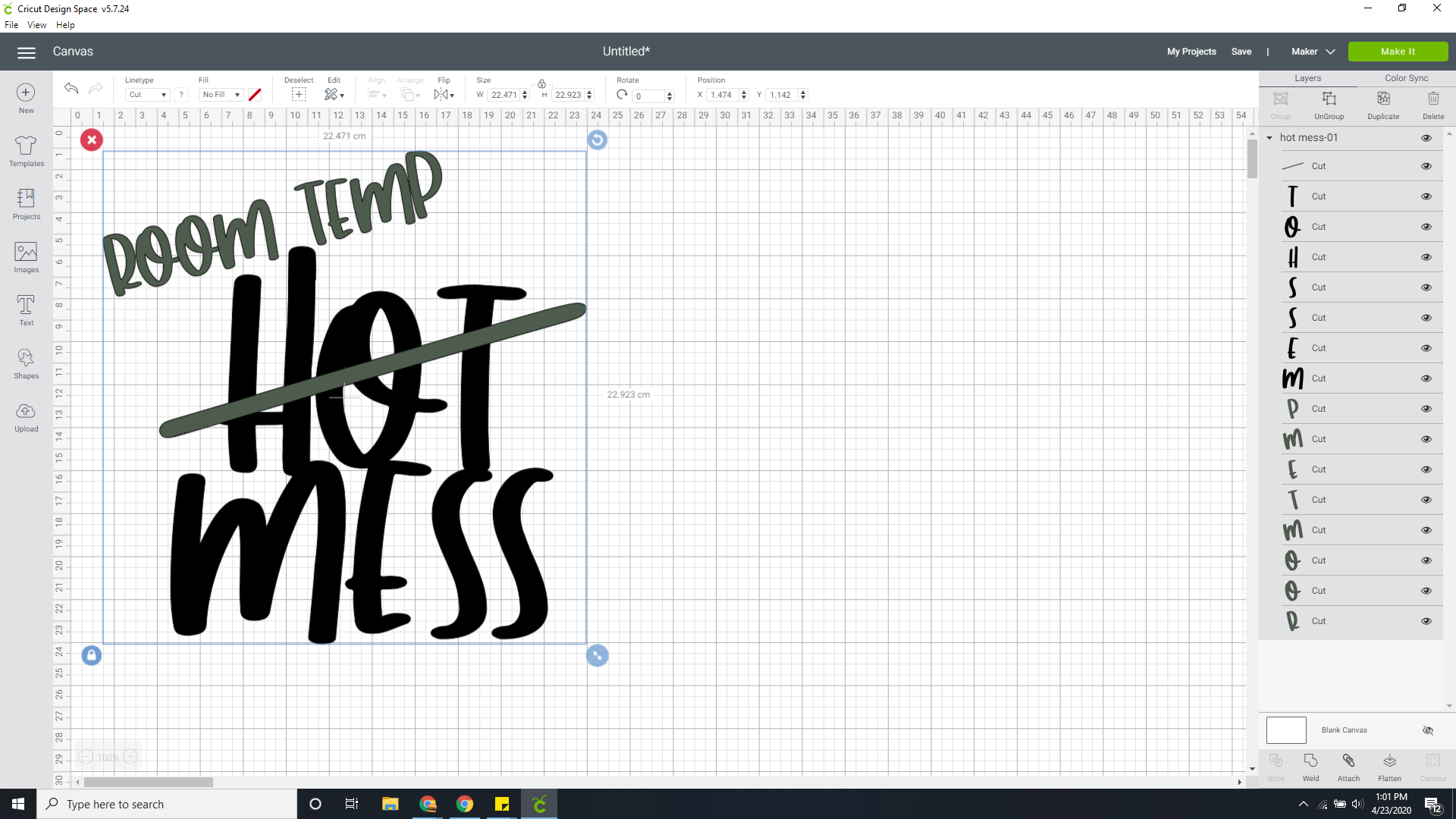 HOT MESS MOM SVG FILE