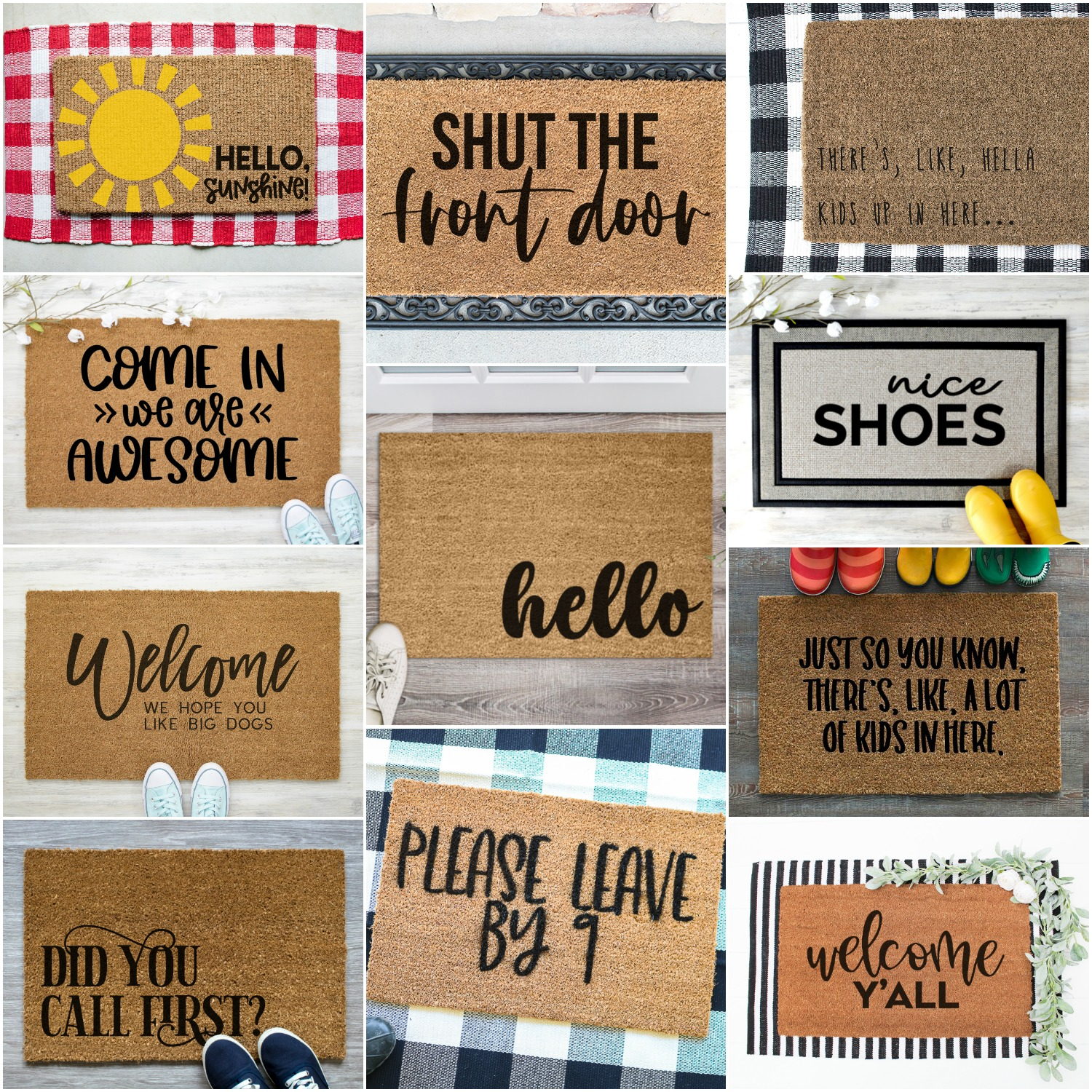 DID YOU CALL FIRST DOORMAT – FREE SVG