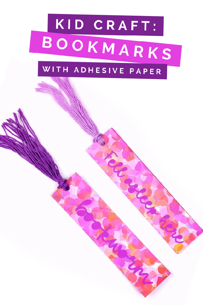 DIY ADHESIVE PAPER BOOKMARKS