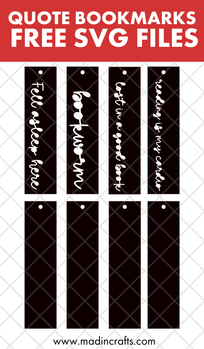 collage of bookmark svg designs