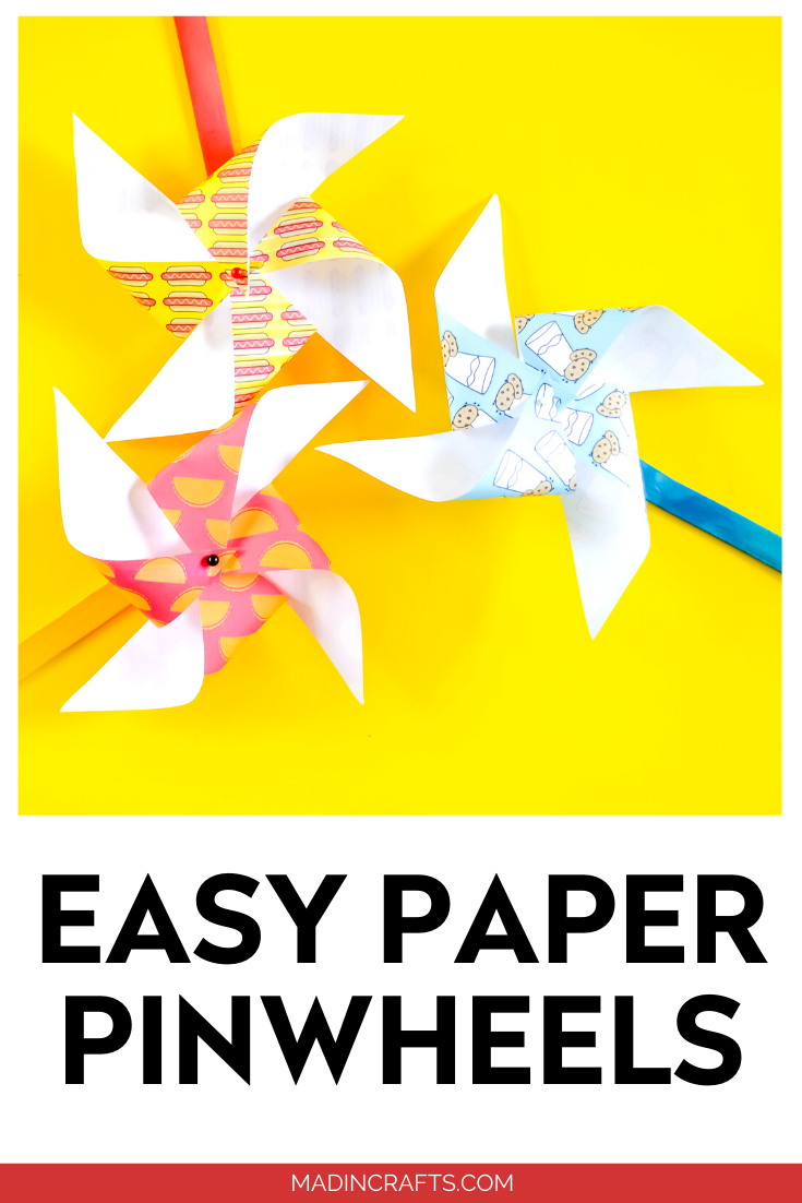 EASY PAPER PINWHEELS WITH PRINTABLES