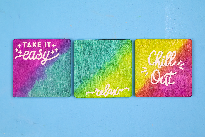 EASY CRICUT JOY CRAFT: OMBRE COASTERS