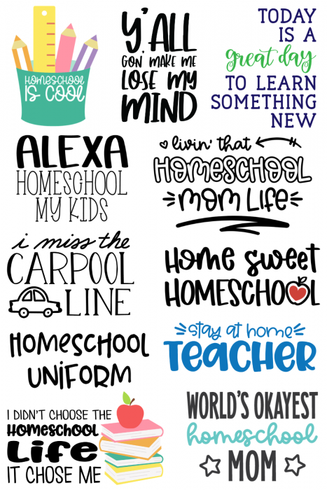 collage of School SVG files