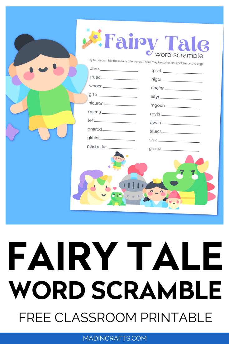 FAIRY TALE WORD SCRAMBLE PRINTABLE