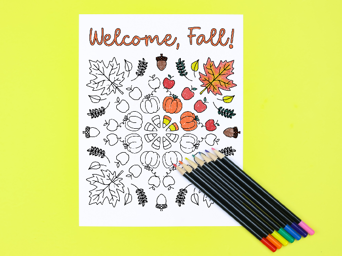 FREE FALL COLORING PAGE PRINTABLE