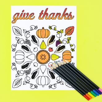 FREE GIVE THANKS MANDALA COLORING PAGE