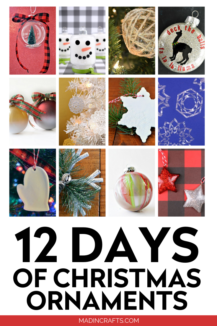 Collage of 12 Christmas Ornament tutorials