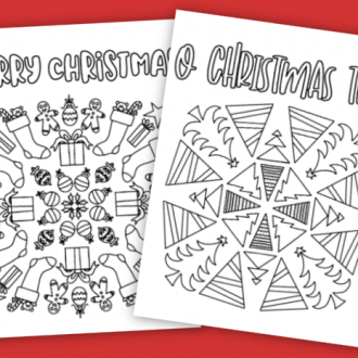 2 FREE CHRISTMAS COLORING PAGES