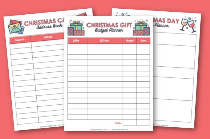 FREE CHRISTMAS GIFT BUDGET PLANNER PDF