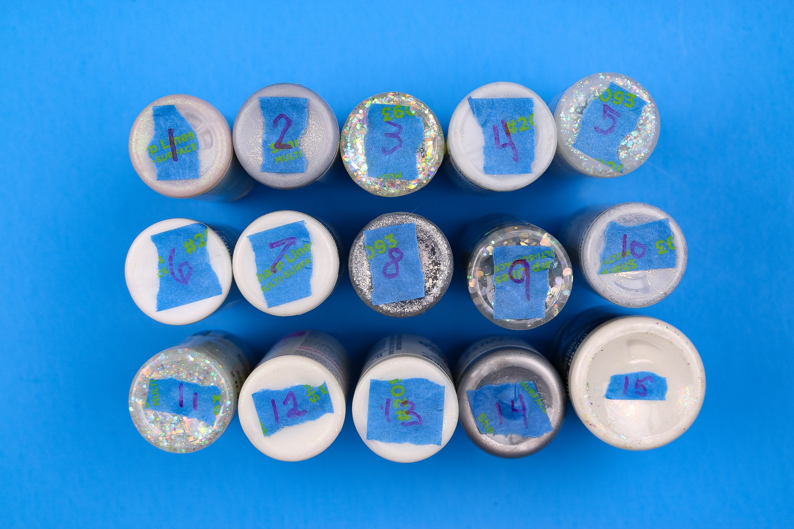 numbered crafts paints